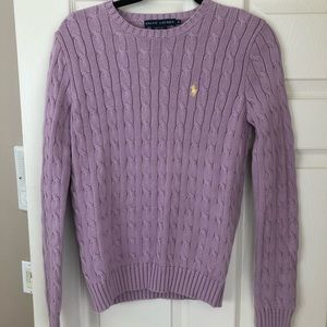 Polo pullover knit sweater